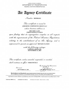 Aerodine Air Agency Cert RDMR624X